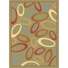 <strong>Rugs America</strong> Torino Light Green Circles Rug
