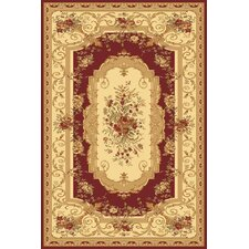 Sorrento Red Aubusson Rug