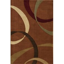 Torino Ribbons Red Area Rug