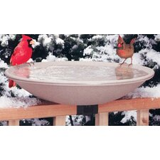 "20"" Heated Deck Rail Bird Bath with Quick Release"