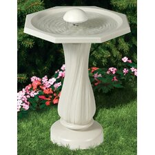 Water Rippling Bird Bath with Pedestal and Water Wiggler