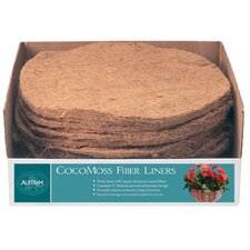 Round CocoMoss Fiber Hanging Planter Liner (Set of 12)