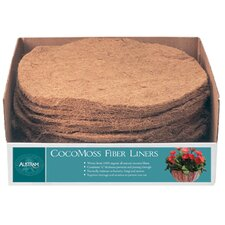 Round CocoMoss Fiber Hanging Planter Liner (Set of 18)
