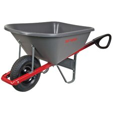 6 Cubic Foot Control™ Poly Wheelbarrow