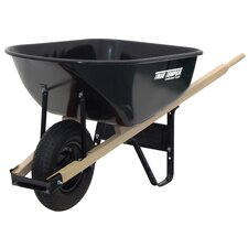 6 Cubic Foot Steel Contractor Wheelbarrow
