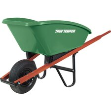 5 Cubic Foot Green Poly Wheelbarrow