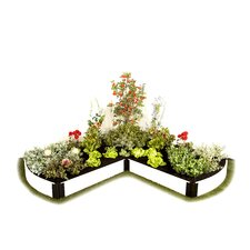 L Shaped Curved End Composite Raised Bed Garden Kit