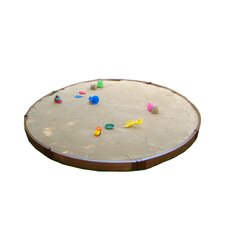 Composite 10.5 ft. D Round Sandbox Kit