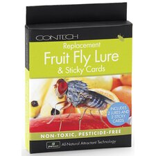 Replacement Fruit Fly Lure and Sticky Cards