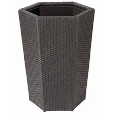 Vista Resin Wicker Hex Planter