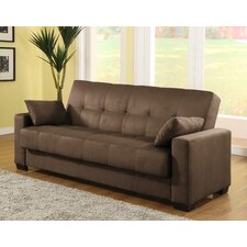 <strong>LifeStyle Solutions</strong> Casual Convertible Microsuede Storage Sofa