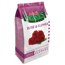 Organic Rose and Flower Granular Fertilizer 4 Lbs (Set of 3)