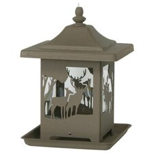 Ornamental Bronze Wilderness Bird Feeder
