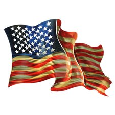 3D American Flag Large Wall Décor