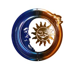 Eyecatchers Sun and Moon Wind Spinner