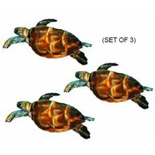 Refraxions Sea Turtle 3D Wall Décor (Set of 3)