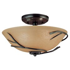 Peony Light Semi Flush Mount or Ceiling Fan Light