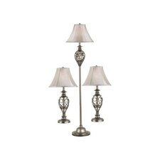Cerise Table Lamp and Floor Lamp Set