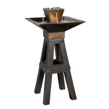 <strong>Kenroy Home</strong> Copper Kenei Outdoor Floor Fountain