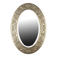 Argento Oval Wall Mirror in Antique Silver