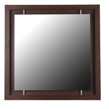 Potrero Wall Mirror in Mahogany