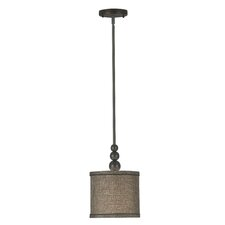 Adams 1 Light Mini Drum Pendant