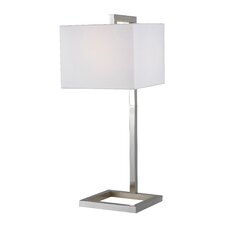 "4 Square 30"" H Table Lamp with Square Shade"