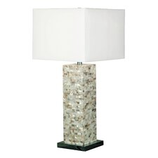 "Pearl 29.5"" H Table Lamp with Square Shade"