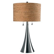 "Reed 30"" H Table Lamp with Drum Shade"