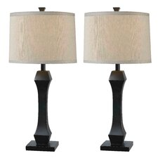 """Gemini 29"""" H Table Lamp with Drum Shade (Set of 2)"""