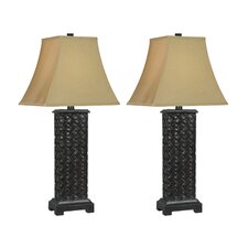 <strong>Kenroy Home</strong> Woven Table Lamp (Set of 2)