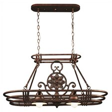 <strong>Kenroy Home</strong> Dorada Lighted Hanging Pot Rack