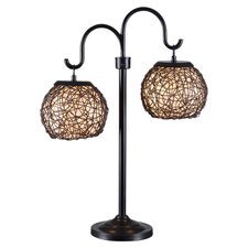 "Outdoor Regina 27"" H Table Lamp with Bowl Shade"