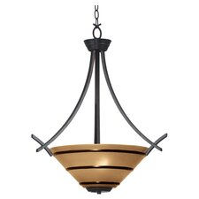 Wright 3 Light Inverted Pendant