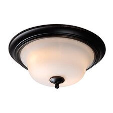 Basket 2 Light Flush Mount