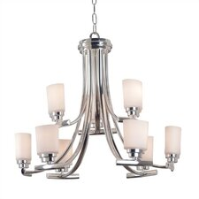 Bow Chandelier in Polished Nickel