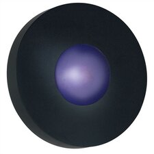 Burst 1 Light Outdoor Round Wall Sconce