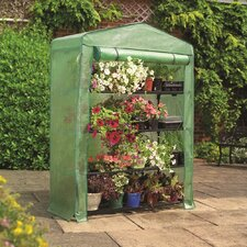 "63"" H x 18"" W x 47"" D 4 Tier Polypropylene Mini Greenhouse"