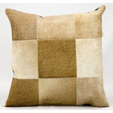 Natural Leather and Hide Pillow