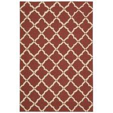 Portico Red Latticework Rug