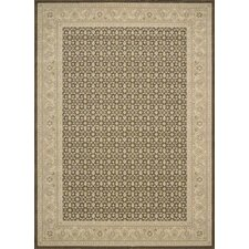 Persian Empire Chocolate Checked Rug