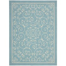Home & Garden Light Blue Indoor/Outdoor Rug
