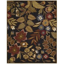 <strong>Nourison</strong> In Bloom Black Rug