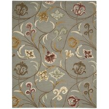 In Bloom Smoke Rug