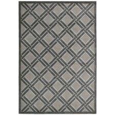 Graphic Illusions Grey Geometric Area Rug