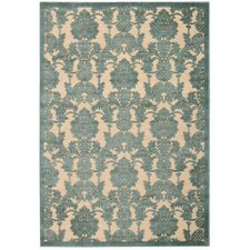 Graphic Illusions Teal Rug