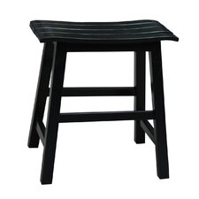 "Slat Seat 18"" Bar Stool"