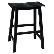 "Slat Seat 24"" Bar Stool"