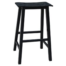 "Slat Seat 29"" Bar Stool"