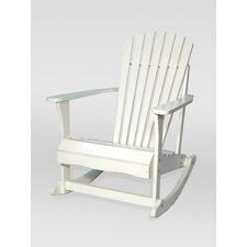 <strong>International Concepts</strong> Adirondack Porch Rocker in White